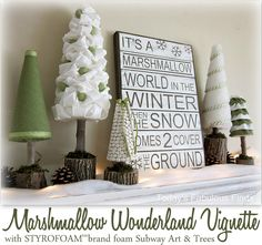 Marshmallow Wonderland Vignette featuring Janet from Today's Fabulous Finds