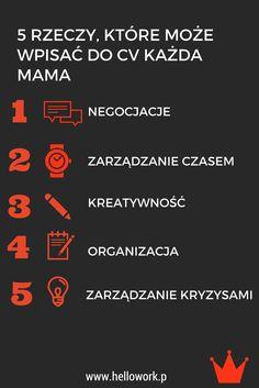 Oto, co może wpisać do CV każda mama