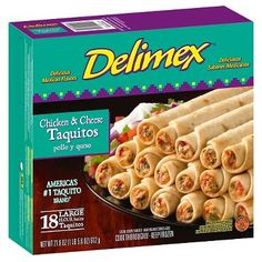 Delimex Chicken and Cheese Flour Taquitos 16 oz