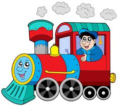 Cartoon Train Engine To Use This Stock Image In Your Creative