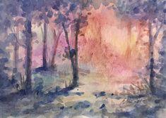 Sunset Landscape, Landscape Art, Landscape Paintings, Sunset Art, Mountain Paintings, Original Art For Sale, Cool Landscapes, Wildlife Art, Bird Art