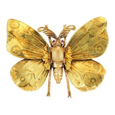 M. BUCCELLATI Gold Butterfly Pin at