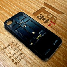 Apple iPhone and iPod case Sherlock holmes 221b door iphone 4 4s, iphone 5 5s 5c, iPod touch 4, iPod touch 5