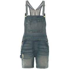 FRAME DENIM Le Gar?on all-in-one dungarees (€215) ❤ liked on Polyvore featuring jumpsuits, shorts, overalls, pants, playsuits, all in ones, light indigo, romper jumpsuit, bib overalls and frame denim