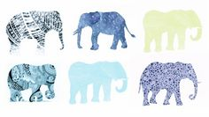 elephant #print   - for more inspiration visit http://pinterest.com/franpestel/boards/