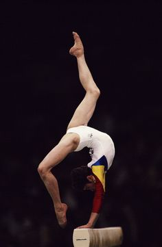 Celestina Popa on beam at the 1988 Olympics in Seoul