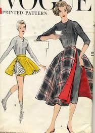 1950's pants with overskirt - Google Search