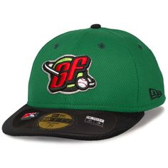 Great Falls Voyagers New Era Low Crown Diamond Era 59FIFTY Fitted Hat - Green/Black