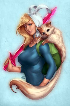 Adventure Time Pin-Up – Fionna by Artipelago
