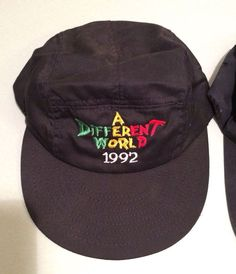 62c795d7b51 Vintage 1992 A Different World Tv Show Cycling Cap Hat 5 Panel Hat Costume  Hallo Black