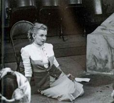 Marilyn Monroe at a tryout at the Players Ring Theatre. Photo by Richard C. Miller, March 12th 1950.