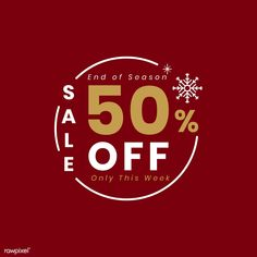Christmas special sale 50% off vector | free image by rawpixel.com Creative Poster Design, Graphic Design Posters, Graphic Design Inspiration, Sale Banner, Web Banner, Mailer Design, Business Poster, Email Marketing Design, Promotional Design