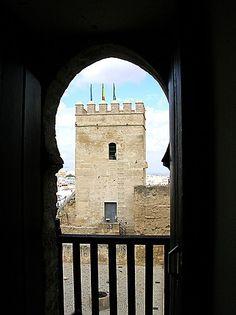 #Sevilla #Carmona - Alcázar GPS 37.471247, -5.640997 Foto de Paco Bélmez Se accede a él por un gran arco de herradura apuntado. El patio de armas, defendido por tres torres. La terraza, desde la que se tiene una fabulosa vista de la Vega de Carmona. Situado al oeste del recinto amurallado y en el punto más alto de Carmona. Pedro I lo hizo restaurar en el S. XIII y lo convirtió en uno de sus palacios favoritos. Los Reyes Católicos levantaron el cubete y embellecieron las dependencias reales.