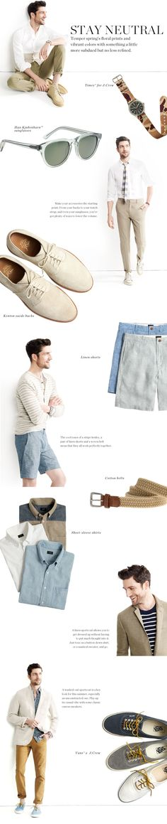 Great summer style. Neutral always looks good! #mensfashion #mens #fashion