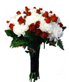 Red and White Brides Bouquet: <span>Stunning Contrast</span>