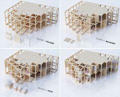 Modular tower housing in India by Penda