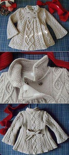 Baby Knitting Patterns Baby Knitting Patterns Cable Knit Elizabeth Coat Free Patter... #knittingpatternsbaby