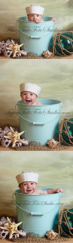 Baby Boy Sailor in a Bucket | Sailing Summer | Nautical Hat | Beach Portrait Poses | Photo Idea | Photography | Cute Kid Pic | Baby Pics | Posing Ideas | Kids | Children | Child | ~Bountiful Utah Photographer close to Salt Lake City | Ogden | Provo UT~