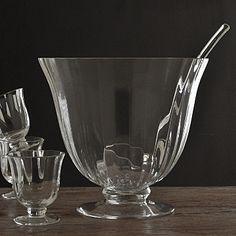 Glass Punch Bowl & Glasses Set. #christmasglassware £95