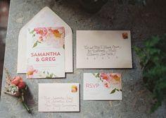 Pretty floral invitation