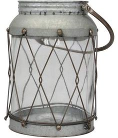 Fill this Stonebriar Collection rustic lantern table decor with your favorite string lights for a shabby chic look. Shabby Chic Kitchen Decor, Shabby Chic Interiors, Shabby Chic Bedrooms, Shabby Chic Homes, Shabby Chic Style, Shabby Chic Furniture, Bedroom Furniture, Retro Furniture, Furniture Ideas