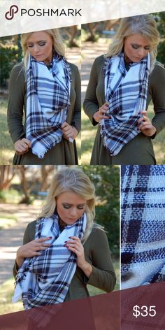 Black & White Blanket Scarf! Black & White Blanket Scarf! Super chic and versatile. Love this one! Comes in original packaging, great gift item! Accessories Scarves & Wraps