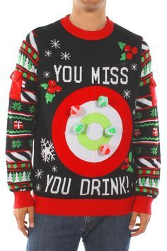 Shop a great selection of Tipsy Elves Men's Drinking Game Ugly Christmas Sweater - Funny Christmas Sweater. Find new offer and Similar products for Tipsy Elves Men's Drinking Game Ugly Christmas Sweater - Funny Christmas Sweater. Tacky Christmas Party, Christmas Games, Christmas Humor, Christmas Ideas, Christmas Drinking Games, Xmas Party, Holiday Ideas, Family Christmas, Christmas Stuff