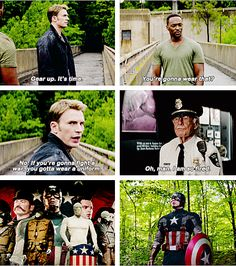 """""""Oh, man, I am so fired."""" Stan lee cameo(Captain America: The Winter Soldier) Dc Movies, Marvel Movies, Steve Rogers, Marvel Heroes, Marvel Avengers, Stan Lee Cameo, Chris Evans Captain America, Bucky Barnes, Winter Soldier"""