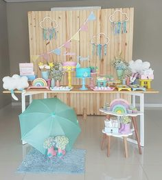Trendy Baby Shower Ides For Girls Themes Diy Rain Drops 51 Ideas Rainbow Party Decorations, Birthday Decorations, Party Themes, Birthday Backdrop, Cloud Party, Baby Shower Printables, Baby Shower Themes, Baby Boy Shower, Gender Party