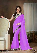 Density Collection Purple Colour Designer Georgette Party Wear Saree, Price: INR 959 | India