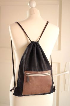 Adjustable drawstring backpack by CosmosBits on Etsy