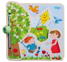Haba the Four Seasons Wooden Baby Book Babies First Year, Babies First Christmas, Toddler Toys, Baby Toys, Country Babys, Bohemian Baby, Wood Book, Little Boy And Girl, Natural Baby