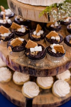 S'mores cupcakes by Delicious Designs Reno // Photo by Huong Forrest Photography // @takethecakevent