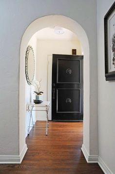 Love a black door...