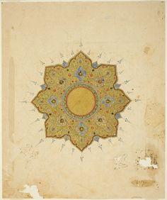 Iran, Shamsa Medallion, 16th/17th century
