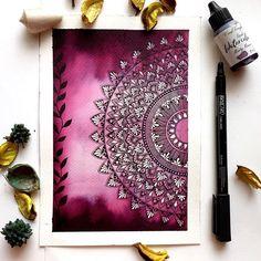 Mandala Art Therapy, Mandala Art Lesson, Mandala Artwork, Mandala Painting, Mandala Drawing, Doodle Art Drawing, Cool Art Drawings, Zen Doodle, Watercolor Mandala