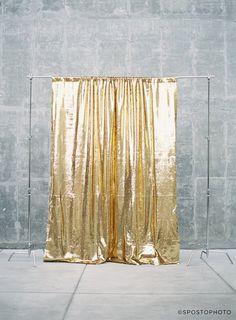 Sequin Backdrop™ //  Gilded Metal // Gold