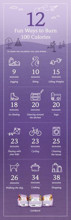 12 Ways To Burn 100 Calories