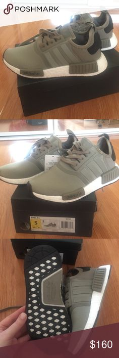 Adidas NMDs Adidas NMDs olive green. Brand new. Men's size 5= women's 6.5 no trades. Adidas Shoes Athletic Shoes