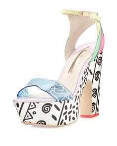 Jade Malibu Leather Platform Sandal, Multi by Sophia Webster at Neiman Marcus.
