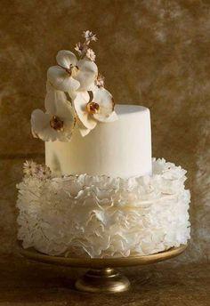 Tartas de boda con orquídeas: fotos ideas originales - Tarta de boda estilo retro
