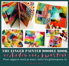 Finger Painted Doodle Book - Birgit Koopsen