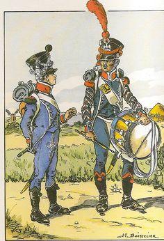 French; 10th Light Infantry, Chasseur Fifer & Carabiner Drummer, 1809