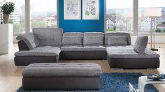 Ecksofa in U-Form als gemütliche Wohnlandschaft #couch #Wohnzimmer #sofa #home #sofas #livingroom