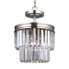 Sea Gull Carondelet 2 Light Antique Brushed Ceiling Fixture