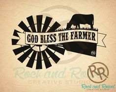 God Bless The Farmer Vinyl Decal  Rock and by RockandRowelCreative