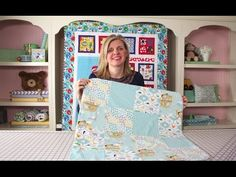 How to Make a Quick & Simple Receiving Blanket DIY Tutorial - Fat Quarter Shop - YouTube