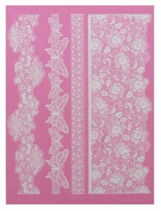 Claire Bowman 3D Cake Lace Mat - MADAME BUTTERFLY. TWO