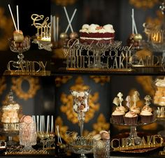 Gatsby glitter dessert table