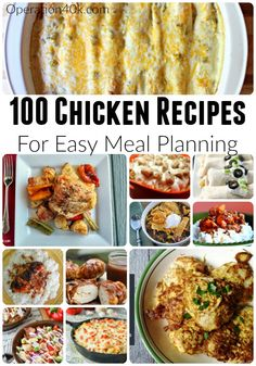 Meal Planning is made easier with our list of 100 Chicken Recipes sorted and separated into categories for easy browsing! Chicken recipes for easy menus!